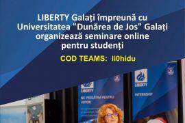 """Seminar """"Managementul de proiect"""" organizate de Liberty Galați și UDJG"""